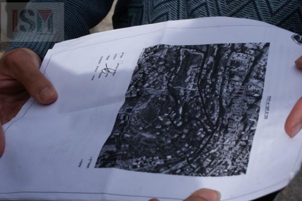 Mapa de zonificación de la zona militar presentada a internacionales durante el desalojo